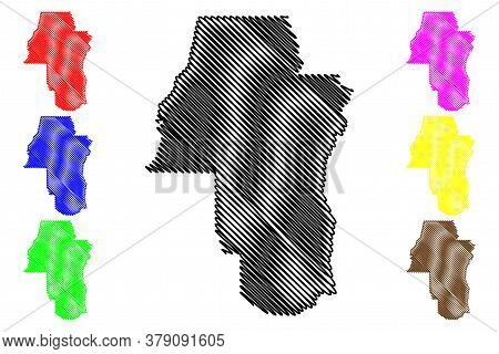Adams County, Idaho (u.s. County, United States Of America, Usa, U.s., Us) Map Vector Illustration,