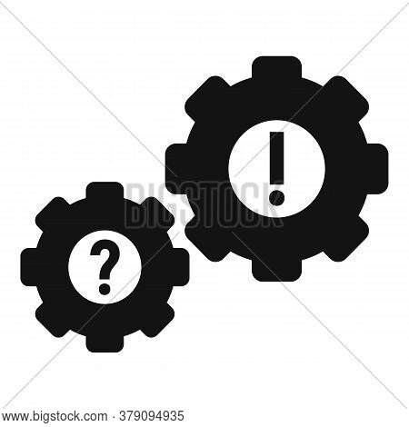 Gear System Innovation Icon. Simple Illustration Of Gear System Innovation Vector Icon For Web Desig