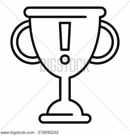 Gold Cup Innovation Icon. Outline Gold Cup Innovation Vector Icon For Web Design Isolated On White B