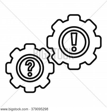 Gear System Innovation Icon. Outline Gear System Innovation Vector Icon For Web Design Isolated On W
