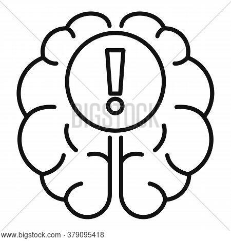 Brain Find New Innovation Icon. Outline Brain Find New Innovation Vector Icon For Web Design Isolate