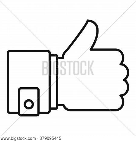 Thumb Up Innovation Icon. Outline Thumb Up Innovation Vector Icon For Web Design Isolated On White B
