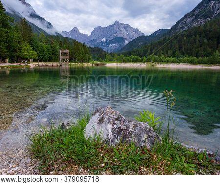 Jasna Lake At Kranjska Gora In Slovenia At Summer