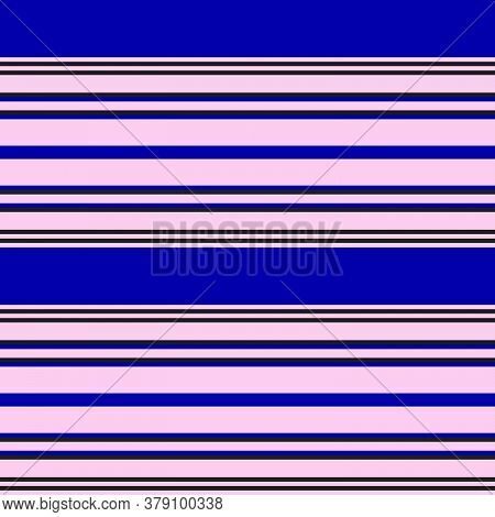 Pink And Navy Stripe Seamless Pattern Background In Horizontal Style
