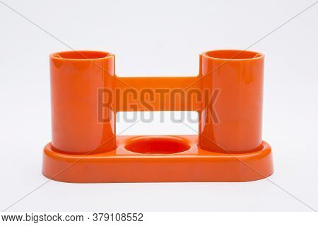 Separate Plastic Containers On A White Background