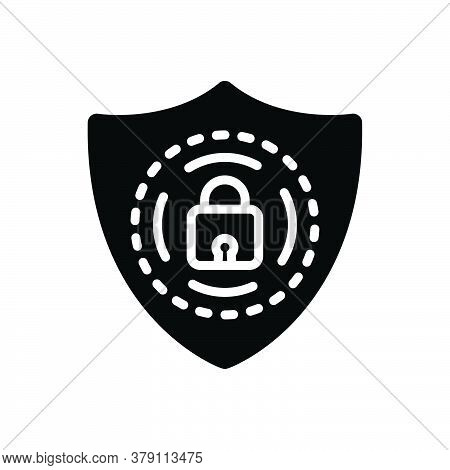 Black Solid Icon For Protection Shield Armor Armature Guard Security Defense Safeguard