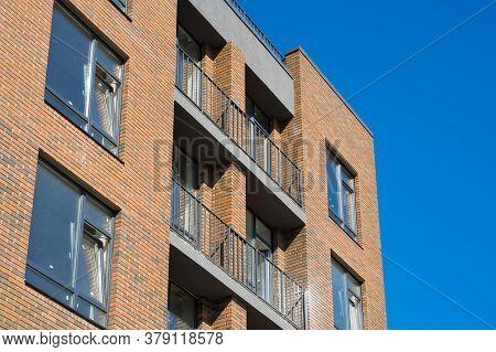 New Scandinavian Style Apartment Building Under Construction.