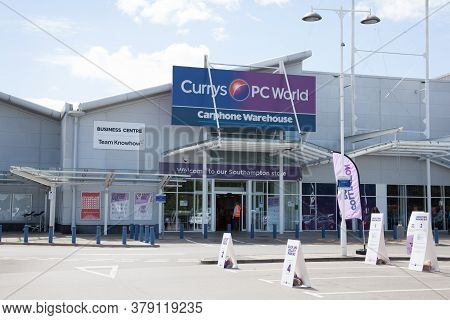 The Currys Pc World Shop At West Quay Retail Park In Southampton In The Uk, Taken On The 10th July 2
