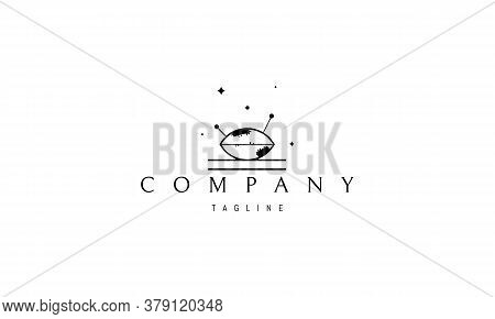 Vector Logo On Which An Abstract Image Of A Needle Cushion With Two Needles Sticking Out Of It.