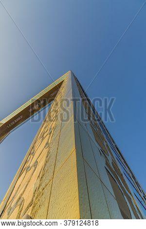 November 2019. Dubai Uae. The Dubai Frame Building In Dubai Uae