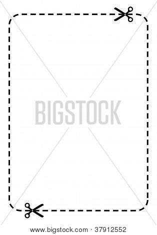 Rectangle coupon, vector illustration