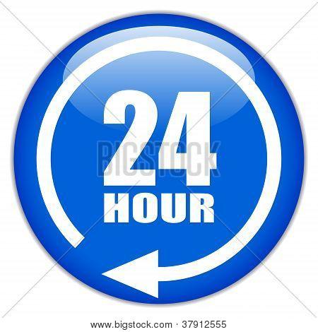 Vector sign twenty four hour