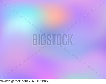 Neon Holographic Paper Fluid Gradient Backdrop. Creative Iridescent Mermaid Background. Liquid Color