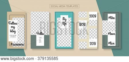 Modern Stories Vector Background. Modern Sale, New Arrivals Story Layout. Online Shop Graphic Graphi