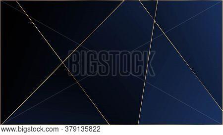 Blue Luxury Polygon Pattern. Rich Silver Vip Geometric Celebration Wallpaper. Elegant Dark Platinum