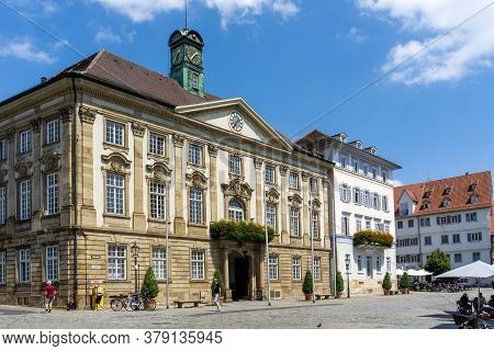 View Of The Town Square And Town Hall In Esslingen