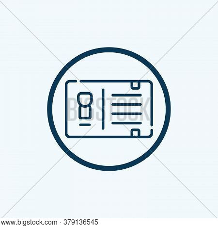 Id Card Icon Isolated On White Background From Hospital Collection. Id Card Icon Trendy And Modern I