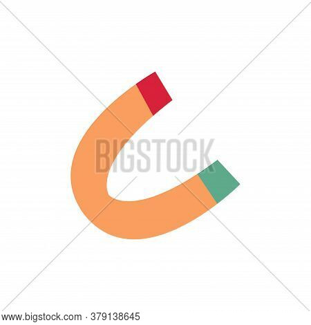 Magnet. Horseshoe Magnet With Magnetic Power. Attraction Concept. Vector Isolated Icon Illustration