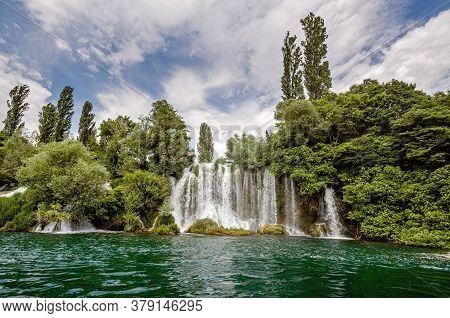 Roski Slap Waterfall In Krka National Park,croatia