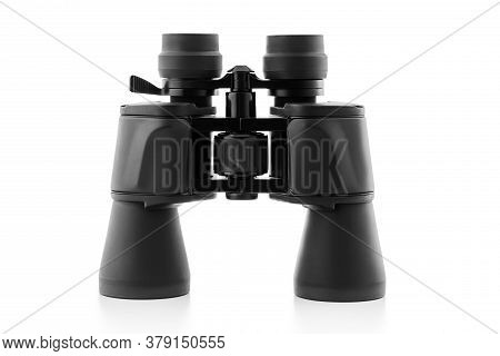 Binoculars Isolated On A White Background. Travel. Science.