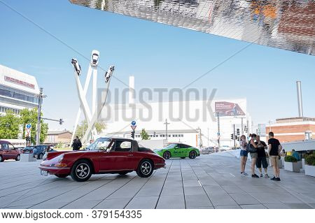 Stuttgart-zuffenhausen, Bw / Germany - 22 July 2020: Tourists Enjoy A Visit To The Porsche Museum In