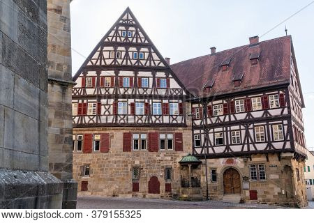 Esslingen, Bw / Germany - 22 July 2020: View Of The Historic Old City Center Of Esslingen On The Nec