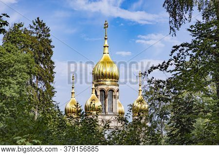 Traditional Russian Orthodox Chapel In Wiesbaden, Germany