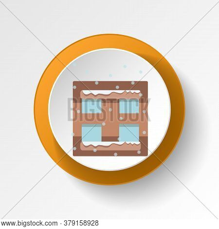 Window Winter Snow Color Icon. Elements Of Winter Wonderland Multi Colored Icons. Premium Quality Gr