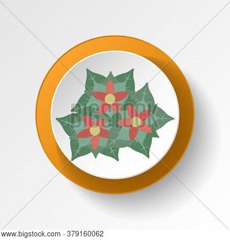 Poinsettia Color Icon. Elements Of Winter Wonderland Multi Colored Icons. Premium Quality Graphic De