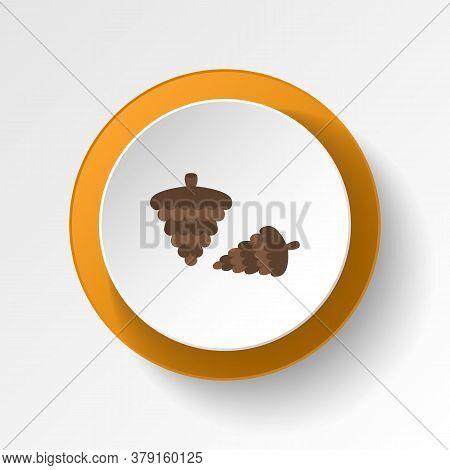Pine Cone Color Icon. Elements Of Winter Wonderland Multi Colored Icons. Premium Quality Graphic Des