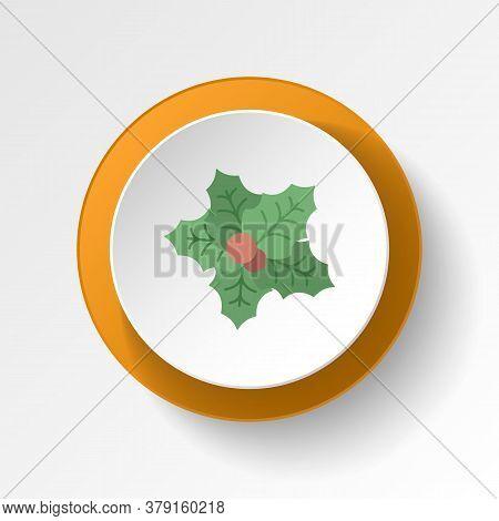Mistletoe Color Icon. Elements Of Winter Wonderland Multi Colored Icons. Premium Quality Graphic Des