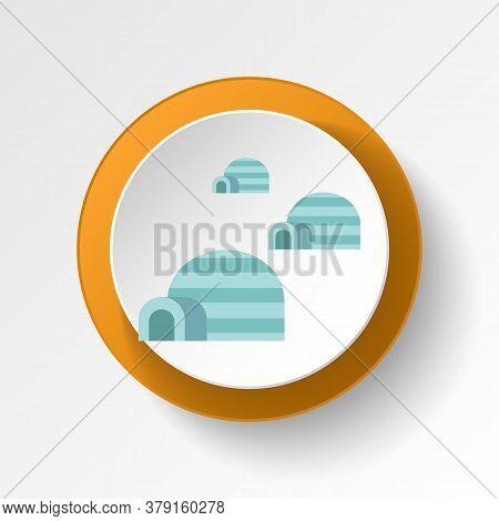 Igloo Color Icon. Elements Of Winter Wonderland Multi Colored Icons. Premium Quality Graphic Design