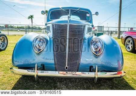 Daytona Beach, Fl / Usa - March 25, 2018: 1937 Ford Deluxe Coupe At The Spring 2018 Daytona Turkey R