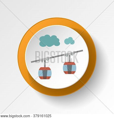 Cable Car Cabin Color Icon. Elements Of Winter Wonderland Multi Colored Icons. Premium Quality Graph