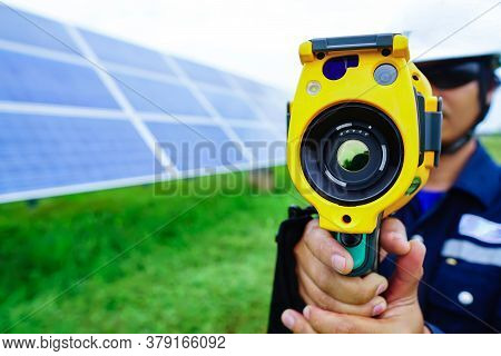 Thermoscan(thermal Image Camera), Scan To The Equipment For A Temperature Check, And This Concept Us