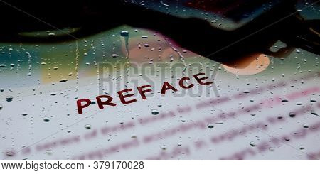 Preface A Commercial Vocabulary Business Text Highlighted On Educational Frame Art Abstract.