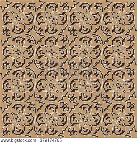 Jogja Batik With Modern Motif And Soft Mocca Color.