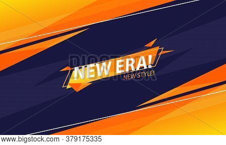 The New Era Abstract Background In Orange And Navy Color