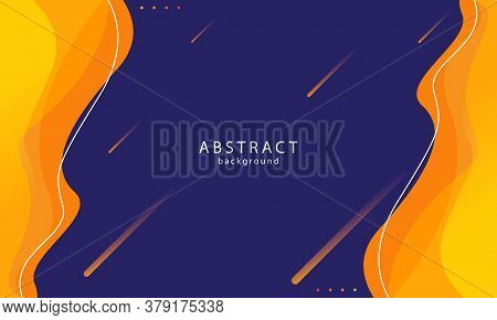 Abstract Background In Orange And Navy Color