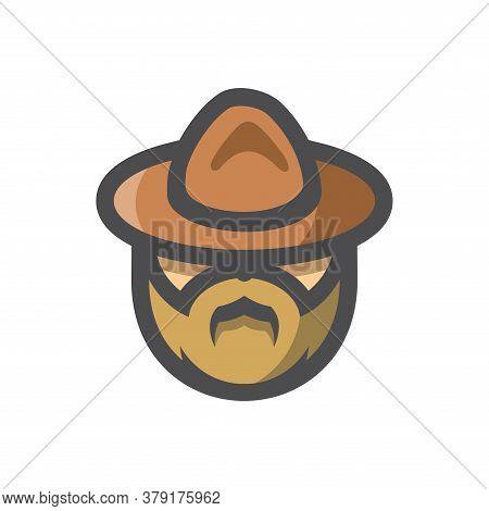 Canadian Mounted Police Officer Vector Cartoon Illustration.