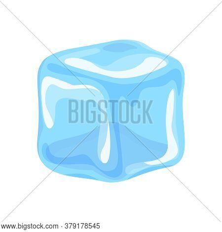Ice Cube Isolated On White, Clip Art Ice Cube, Illustrations Cubes Transparent