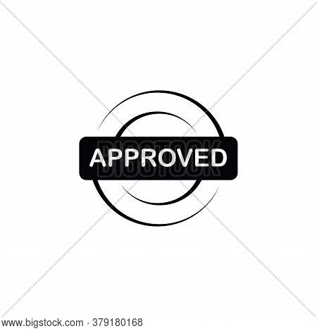 Illustration Vector Graphic Of Approved Label Icon