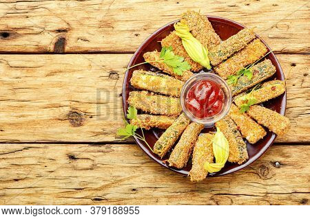 Breaded Fried Zucchini Sticks