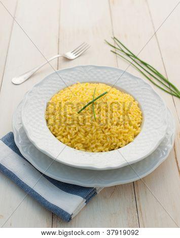 Risotto allo Zafferano - Saffron Risotto