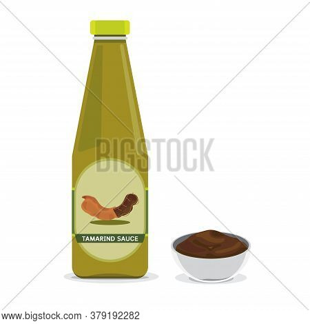 A Bottle Of Tamarind Sauce For Cooking.