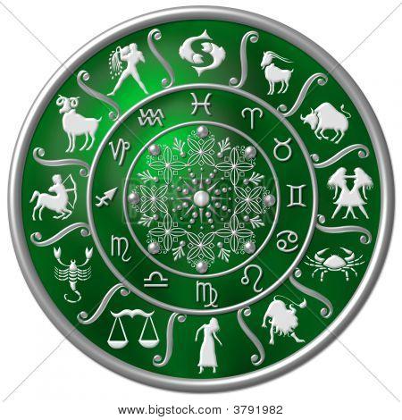 Green Zodiac Disc