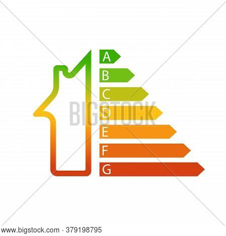 House As Energy Efficiency And Home Improvement Concept. Vector Illustration.