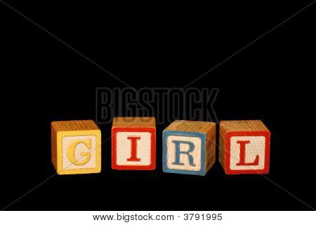 Baby Block Girl Hoizontal