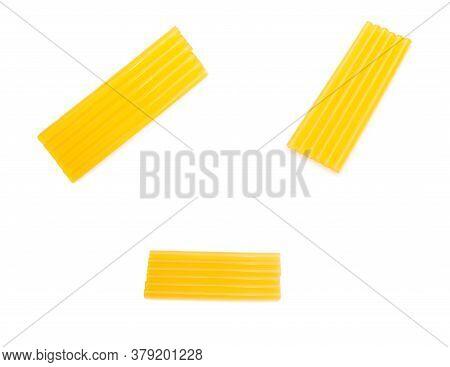 Glue Sticks For Glue Gun On White Background, Isolate, Instrument