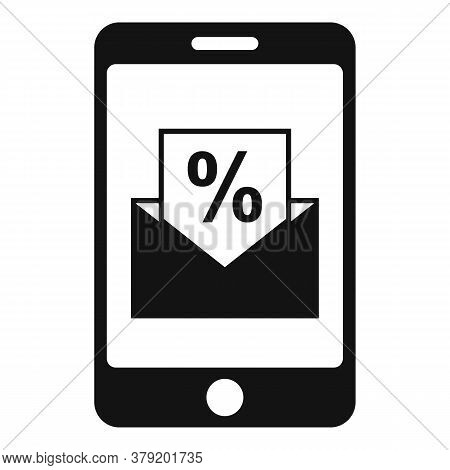 Conversion Rate Smartphone Icon. Simple Illustration Of Conversion Rate Smartphone Vector Icon For W